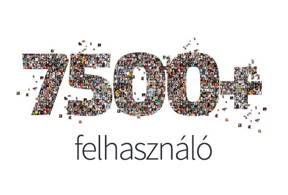 7500+ Sihuhu felhasználó