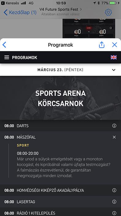 V4 Future Sports Festival - chatbot